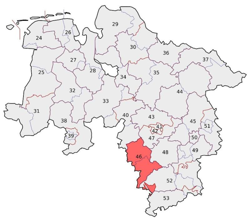 Karte Niedersachsen